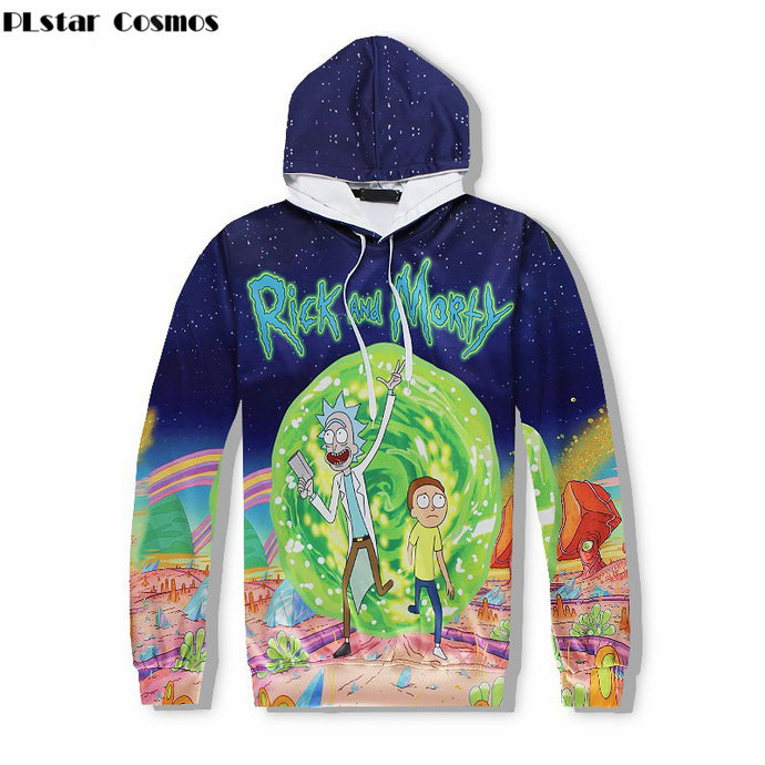 Rick and Morty Cartoon Hoodie