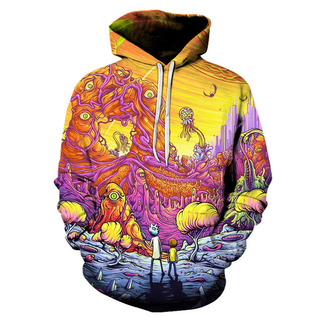 Rick and Morty 3D Hoodies Brand 2 Styles