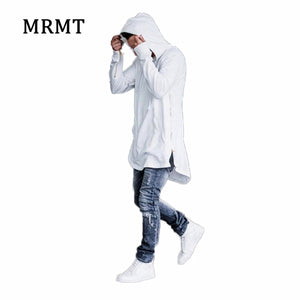 Long Zipper Streetwear Sweatshirt Cut Extended Hoody