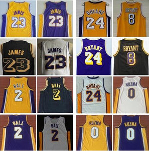 2018 Men's Los Angeles Lakers Jerseys Stitched