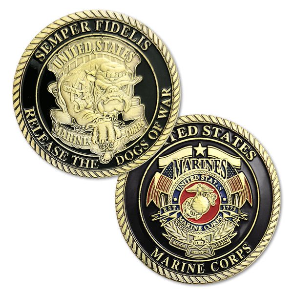 United States Marine Corps Devil Dog Military Challenge Coin