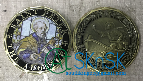 saint peter challenge coin