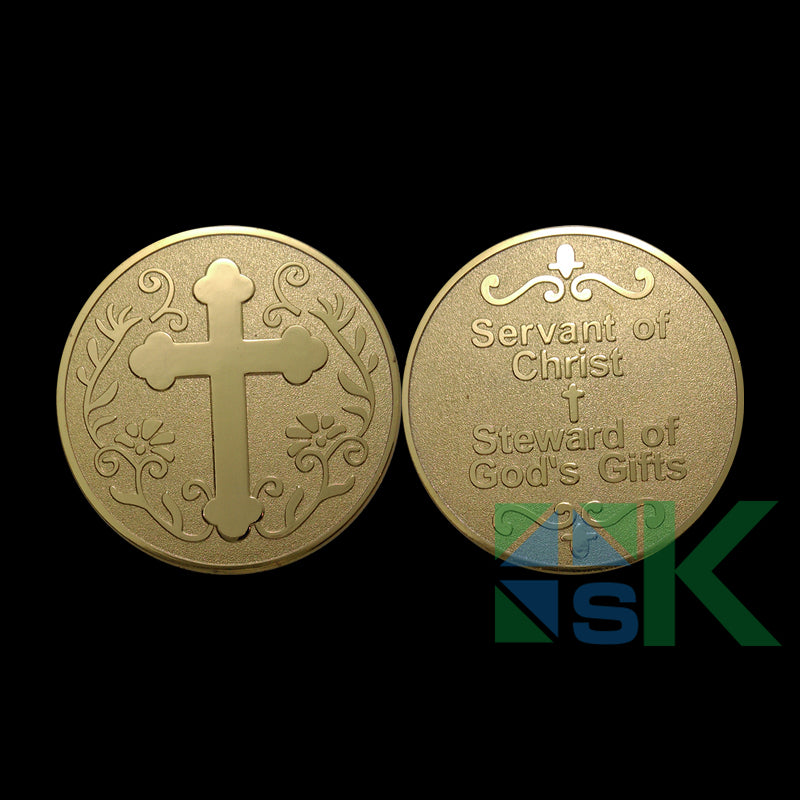 servant of christ challenge coin steward of god' s gifts collection souvenir
