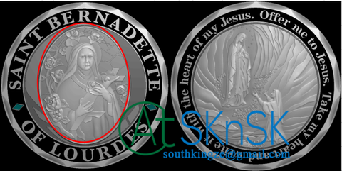 Saint Bernadette gifts coin