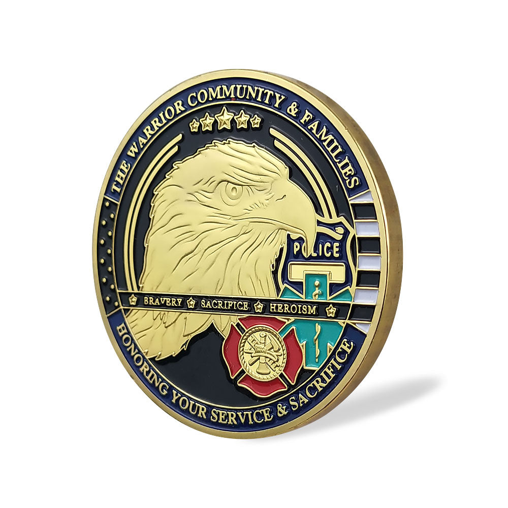 Marine Corps Of United States' Wives Challenge Coin Antique Bronze Edition