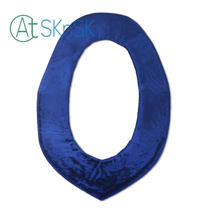 Masonic Vanilla Royal Blue Velvet Backing Collar
