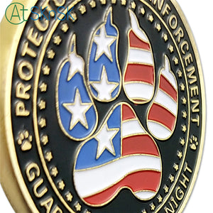 United States Police Dogs K9 Challenge Coin