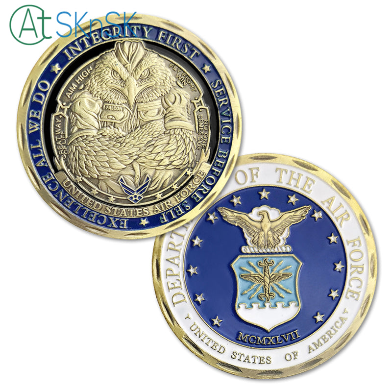 United States Air Force Department Eagle Sergeant Challenge Coin