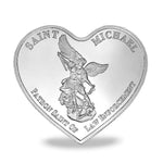 St Mchineal The Blue Line Heart Shape Challenge Coin