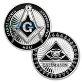 All-Seeing Eye Of Freemasonry's Challenge Coin Silver Edition