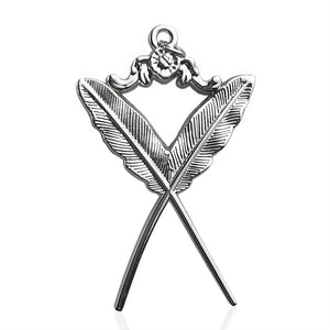 Masonic The Feather Quill Sliver Jewel Pendant