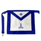 Masonic Blue Lodge Leather Apron Featured with Senior Warden Level Symbol (Royal Blue)