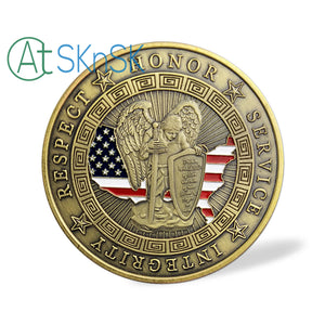 Police Armor of God Motto Challenge Coin