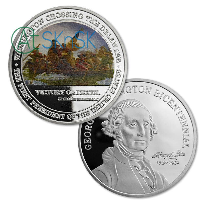 George Washington Crossing Delaware River Challenge Coin