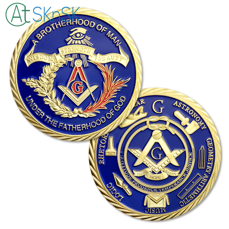 Brotherhood Of Freemasonry's Challenge Coin Gold Edition