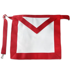 Masonic Red Lodge LEATHER Cover Apron Standard