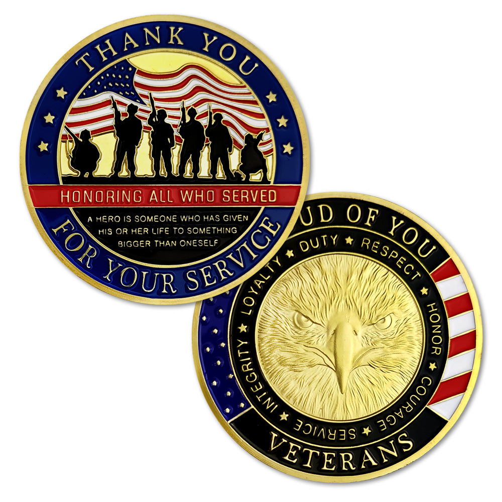 US Army Thank You for Your Service Challenge Coin