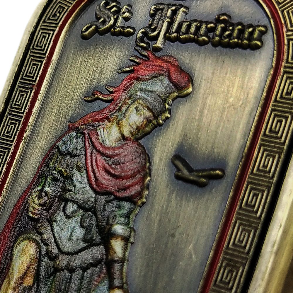 Saint Florian Fireman Prayer Challenge Coin Dog Tag
