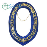 Masonic Craft Working Tools Blue Velvet Backing Gold Chain Collar