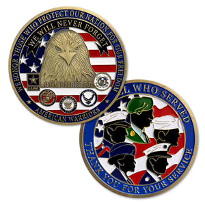 US Warriors Thank You For Your Service Challenge Coin