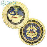 Coast Guard Of United States' Reserve Challenge Coin Gold Edition