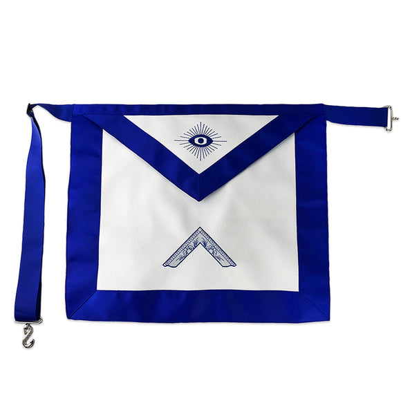 Masonic Blue Lodge Leather Apron Featured with Worshipful Master Square Symbol (Royal Blue)