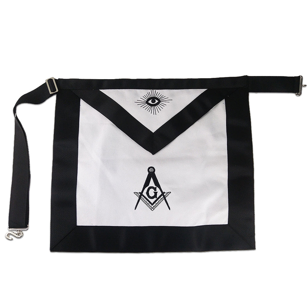Masonic Master Mason  Cotton Fabric  Apron Featured with Compass & Square G Symbol