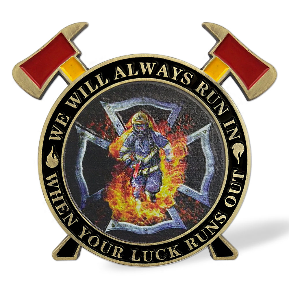 Firefighter Maltese Cross Fire Rescue Challenge Coin