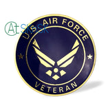 U.S. Air Force USAF Veteran Metal Auto Emblem Car Sticker