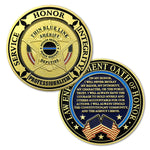 Law Enforcement Oath of Honor Blue Line Challenge Coin