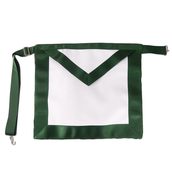 Masonic Blue Lodge LEATHER Cover Apron Green Standard
