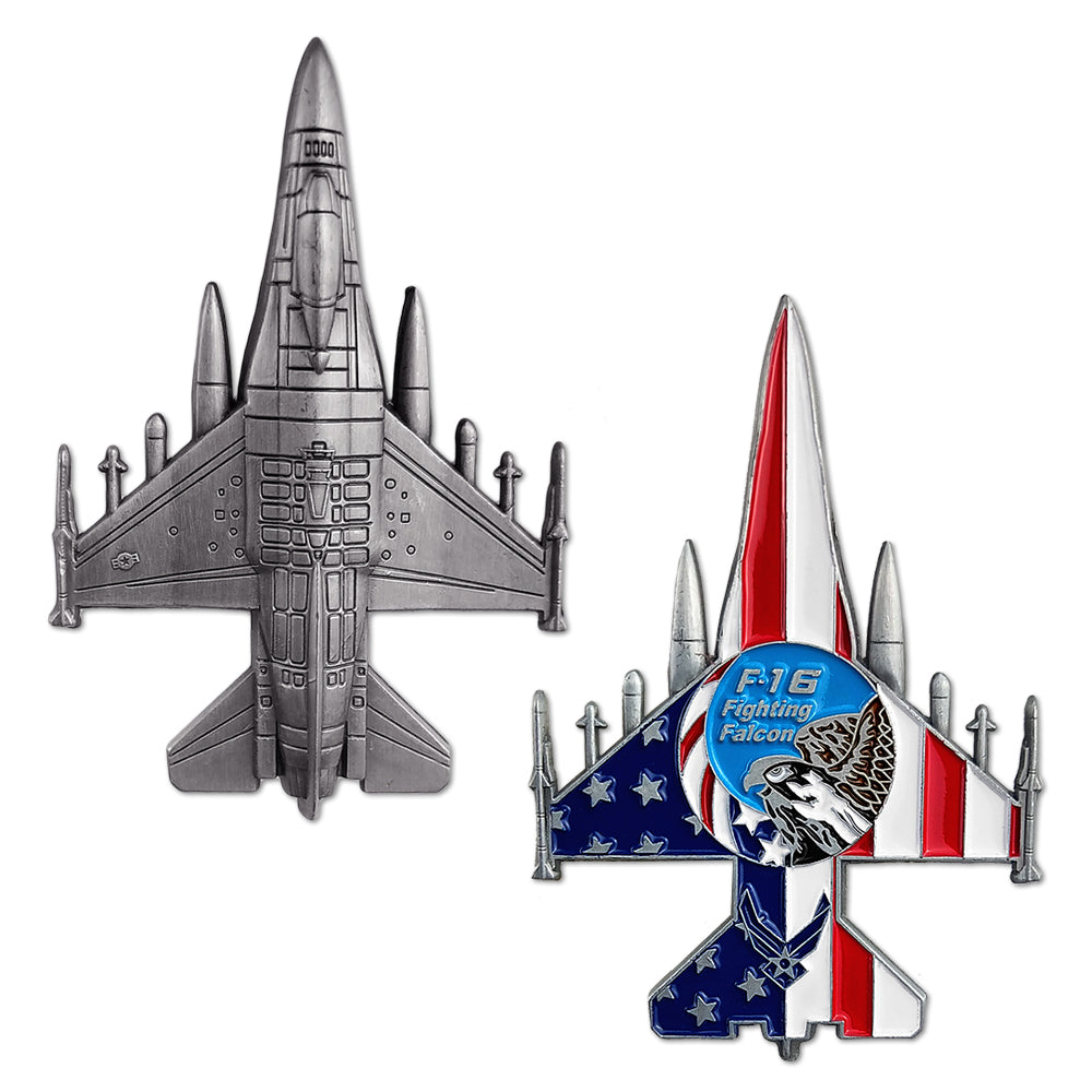 United States Air Force F16 Fighting Falcon Model Challenge Coin