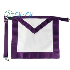 Masonic Blue Lodge LEATHER Cover Purple Apron