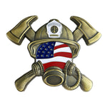 US Gas Mask Fireman's Prayer Challenge Coin