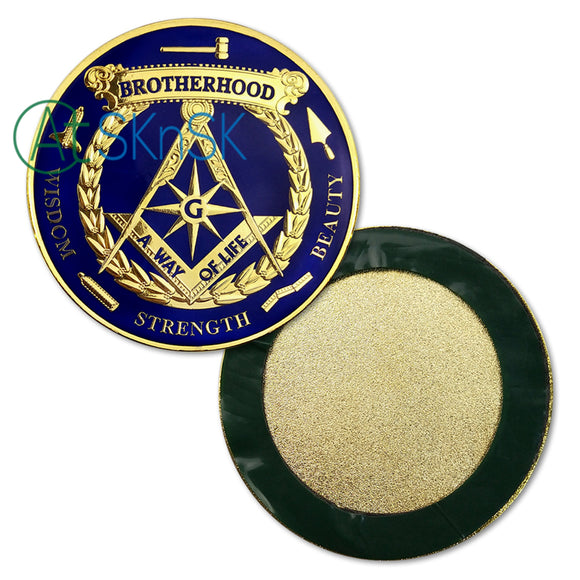 Freemason Brotherhood Masonic Auto Car Emblem with Adhesive