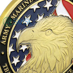 Military Services Of United States' Thanksgiving Challenge Coin Antique Bronze Edition