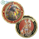 US Fire Fighter Motto St. Florian Challenge Coin