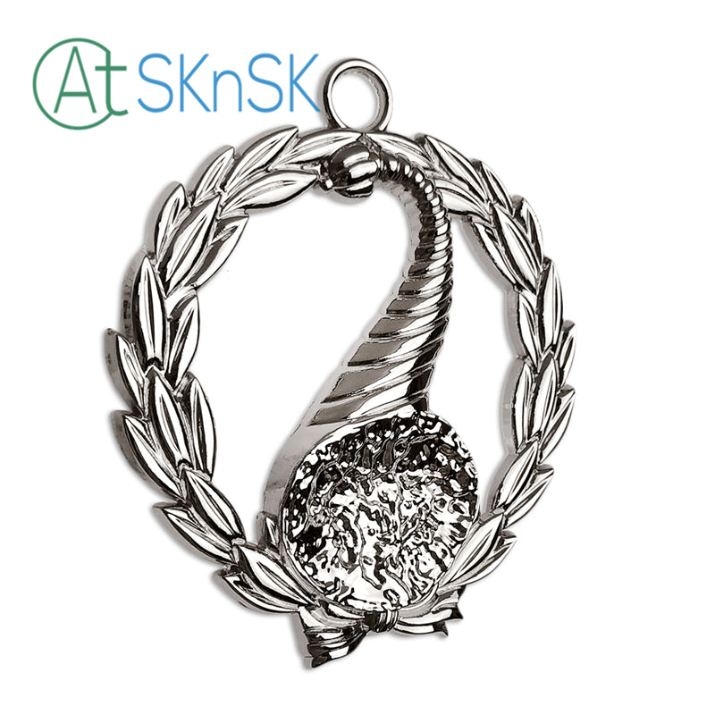 Masonic Junior Stewards Sliver Jewel Pendant the Right Harvest Basket