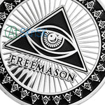 All-Seeing Eye Of Freemasonry's Challenge Coin