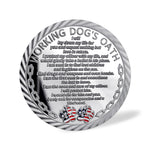US Working Dog's Oath The Thin Blue Line Challenge Coin