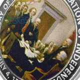 1776 The Declaration of Independence Benjamin Franklin America History Challenge Coin