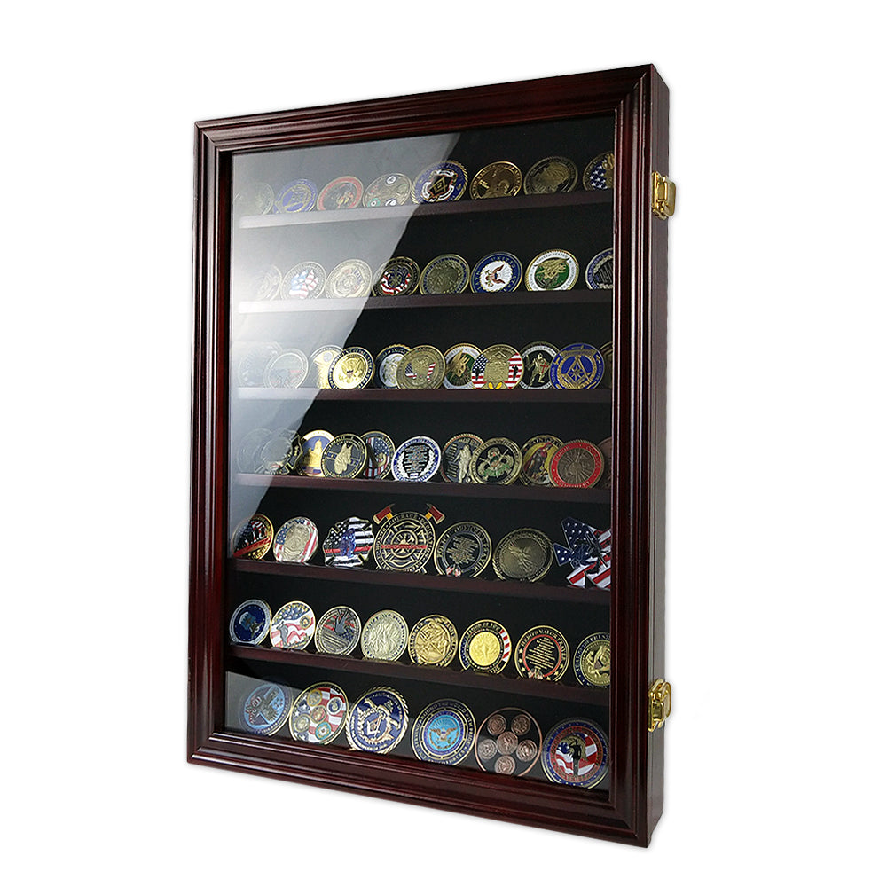 7 Tiers Cabine Challenge Coin Display Shadow Box