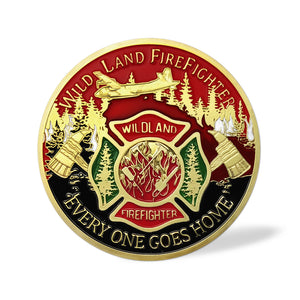 US Wild Land Firefighter Brotherhood Challenge Coin