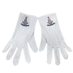 Masonic Past Master White Gloves