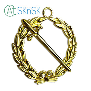 Masonic Tyler Gold Jewel Pendant the Long Sword