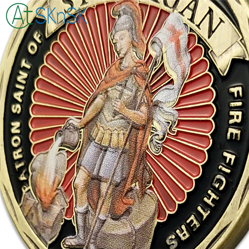 US Firefighter Motto St Florian Challenge Coin