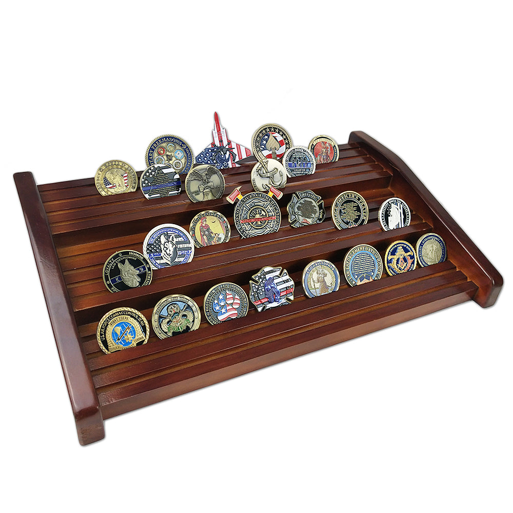 Single/ Double/ Triple Cherry Stairs Challenge Coin Display