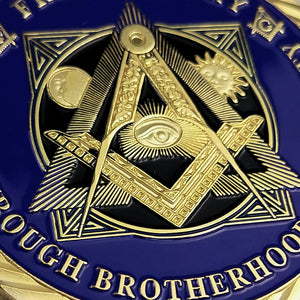 Freemasons Fraternal Peace Band Of Brother Charity Challenge Coin