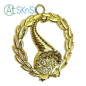 Masonic Senior Stewards Gold Jewel Pendant the Left Harvest Basket