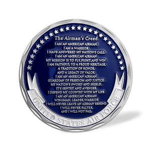 United States Air Force The Airman's Creed Challenge Coin